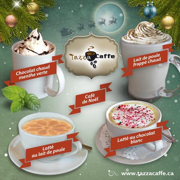 Les breuvages de Noël au Tazza CAFFE