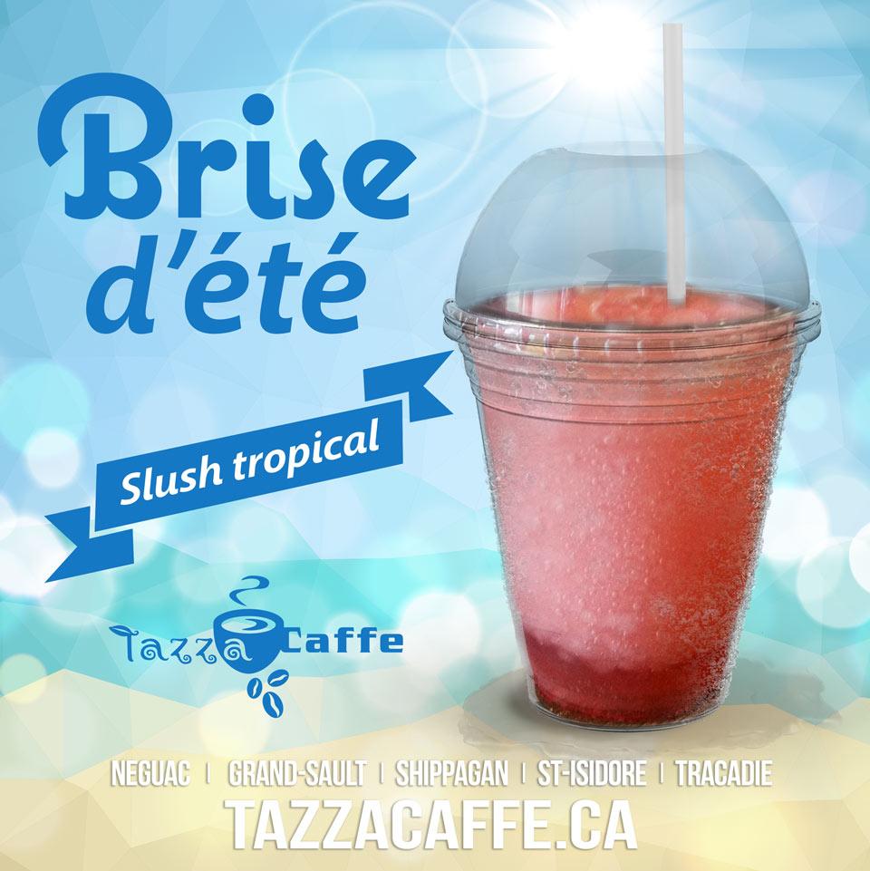 Brise d'été au Tazza CAFFE - Slush tropical