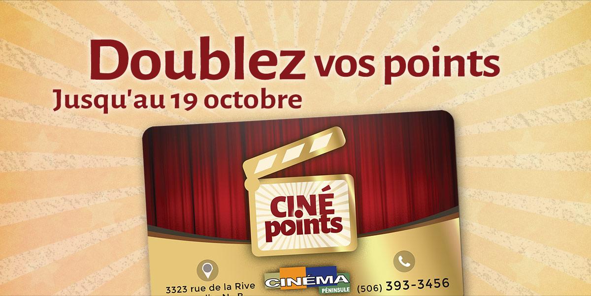 Doublez vos points jusqu'au 19 octobre