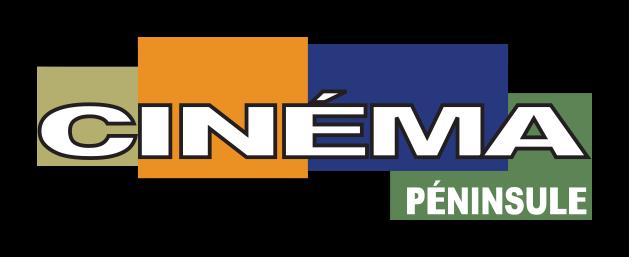 Le logo du Cinéma Péninsule en pied de page